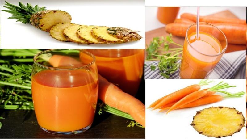 Zanahoria con piña, pierde peso y trata estas enfermedades.